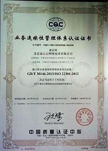 业务连续性管理体系(ISO22301:2012)